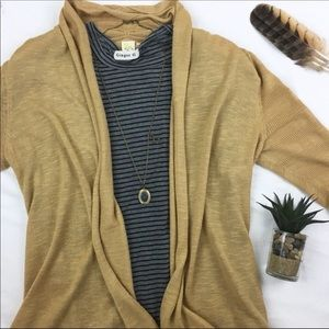 Anthropologie Stripe Layering Tee